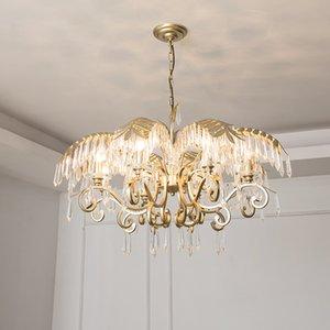 2019 люкс Крите Гостиную лампа глянцы De Cristal крытого свет хрустальных подвески для люстры Бесплатной доставки