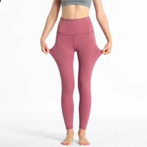 Womens Designer Leggings Fashion Brand Spring Summer Leggings Nude Pants Tight Bodysuit Yoga Pants 10 Colors 2020 Hot