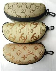Moda mektup tarzı Fermuar kutusu, davayı, sıcak kadın erkek gözlük sıradan kutu, kaliteli gözlük kutuları güneş gözlüğü
