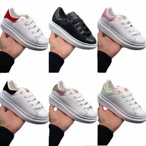 Infants Kids Fashion Sneakers Blanche et Noir Platform Pelle White Leather Shoes Avant Garde outdoor Sports shoes Toddler boys girls Trainer