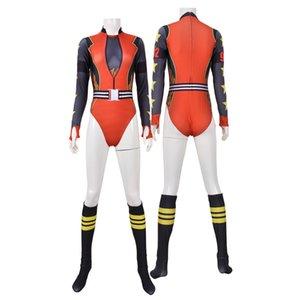 Птицы Prey Harley Quinn 3D спандекс Зентаи костюм трико косплея