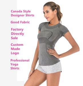 T-shirt Designer l Famoso Esporte Yoga Shirt u executando Jogging l Lazer Mulheres T shirts Designer u mesmo estilo manga curta Camisas # 216