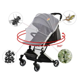 New Styles Enlarged Denser Full Coverage Universal Zipper Convenient Pink Mosquito Net for Baby Strollers Wholesale S3