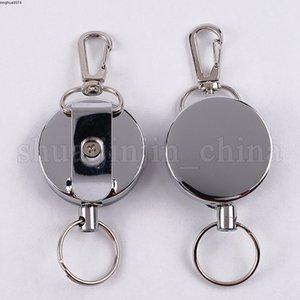Tel Zincir High Key Esneklik Yüzük Çelik Halat Zincir Recoil metal Retractable Alarm Anti Kayıp Kuşak Klip NNA278