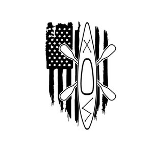 11.8 * 18CM Drapeau Américain Amérique Kayak Yak Paddle Board De Pêche Personnalité Decal de Vinyle Autocollant De Voiture