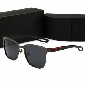 Yüksek kalite marka tasarım polarize güneş gözlüğü erkek kadın yüksek çözünürlüklü güneş gözlüğü Anti-Uv kurbağa ayna kılıfla ...