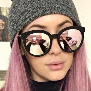 2020 FSQCE Fashion Square Lunettes de soleil Femmes Brand Design Revêtement Miroir Ladies Cat Eye Lunettes de soleil UV400