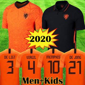 2020 الجديدة هولندا لكرة القدم بالقميص DE JONG WIJNALDUM هولندا مجموعات كرة القدم قميص فيرجيل 20 21 جيرسي STROOTMAN يتصدر مجموعات ممفيس الرجال الأطفال
