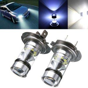 2pcs H7 Brouillard Lumière LED 100W voiture brouillard arrière Conduite Lumière de secours Phare Ampoule feu de recul Blanc 12-24 universel pour camion de voiture