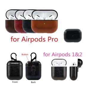 Per AirPods Pro 3 caso Custodia in pelle protettiva PU antiurto di ricarica portatile gancio auricolare epoca coprire con Anti-persa per Airpods 1 2 3