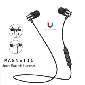 الرياضة سماعات بلوتوث الرقبة الأذن هوك سماعات الأذن نوع تشغيل المعادن المغناطيسي باس الثقيلة بطاقة المكونات في ستيريو الأسود الأحمر