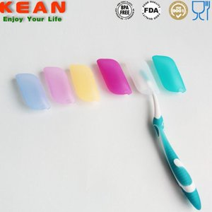 Cepillo de dientes de silicona Funda de color caramelo Cepillo de silicona Cubiertas para la cabeza Funda de silicona Sostenedor del polvo de viaje Baño titular de cepillo de dientes CLS620
