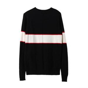 Marea suéteres de diseño para el otoño suelta los hombres suéteres jersey manera de la manga larga carta de impresión par de suéteres de las mujeres libres del envío