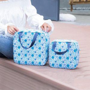 Aseo impermeable Bolsa de lavado Multifunción Bolsas de almuerzo de papel de aluminio al aire libre Impreso portátil Bolsos cosméticos Bolsas de maquillaje de viaje BH1589 TQQ