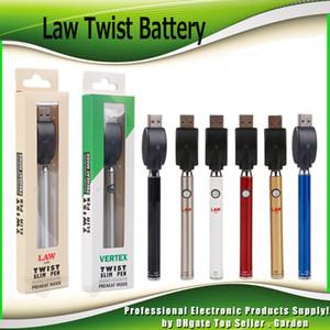 Law Vertex Ön Isıtma Batarya Blister Seti Alt Büküm 380 mAh Ön Isıtma O Kalem Vape Kalın Yağ Kartuşu için Değişken Gerilim Buharlaştırıcı