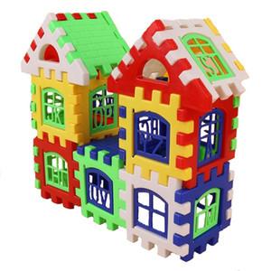 24PCS 빌딩 블록 키즈 하우스 빌딩 블록 건축 발달 장난감 세트 3D 벽돌 장난감 건설 벽돌
