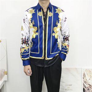 Brand New Mens Medusa Shirts 2020 Long Sleeved Slim Fit Dress Shirts Business Casual Men Shirt