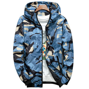 Men's Jackets 2020 Fashion New Mens European and American Style Hooded Jacket Casual Zipper Men Clothing 4 Colors Size M-4XL