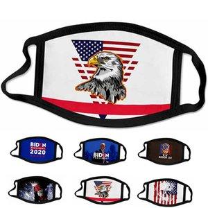 American Flag Cotton Masks 2020 USA Election Biden Trump Face Masks Unisex Dustproof Printed Designer Cosplay Party Mask For Men And Women