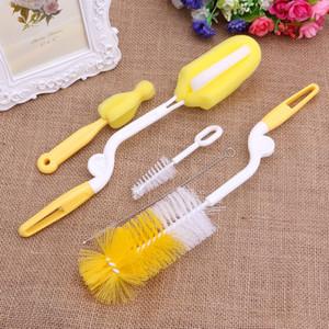 5Pcs set Baby Milk Feeding Bottle Brush Handly Portable Nylon and Sponge Tube Cleaner Random Color