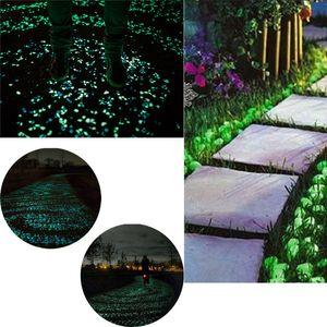 100pcs Glow in escuro Seixos de pedra Início Garden Walkway Aquarium Fish Tank Valentine jardinagem Home Decor New Arrival 2018