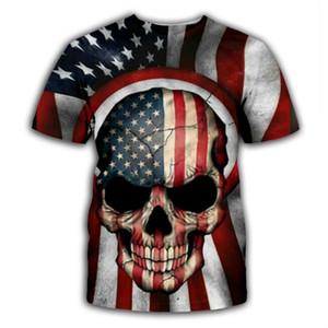 PLstar Cosmos Skull / американский флаг 3D печать балахон / толстовка / куртка / рубашки Мужчины Женщины Тис хип-хоп одежда прямая поставка