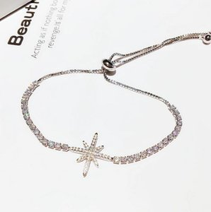 High quality ladies fashion European and American zircon micro-inlay octagonal star pull bracelet jewelry accessories