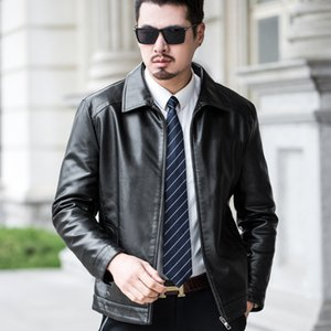 Men warm Cool bomber Jackets men jacket winter fur Slim Fit Motorcycle PU Leather Jacket Coat Outwear streetwear