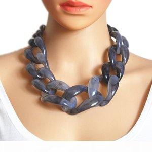 wholesale Boho New Fashion China Chokers Necklaces Gothic Necklaces For Women Resin Chain Necklace 2018
