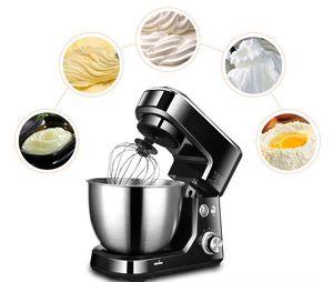 Gıda İşlemcisi Paslanmaz Çelik Kase 6-Hızlı Mutfak Gıda Standı Mikser Krem Yumurta Çırpma Blender Kek Hamur Ekmek Mikser Makinesi Makinesi