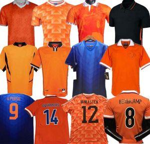 Retro 1988 1991 1995 1996 2000 2002 2012 2014 Netherlands Soccer Jersey Basten Holland BERGKAMP Gullit Rijkaard DAVIDS Retro football shirt