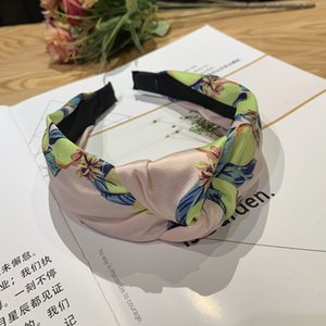 Risyh Lemon fruit knotted headband net red face wash hair band wild female hairpin pressure hair wide-brimmed accessories
