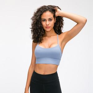 К 2020 году новых женщин спортивный бюстгальтер йога обнаженные чувства тренажерный зал тренировки жилет Сексуальная backless бюстгальтеры фитнес бег топы быстрый сухой нижнее белье Леди X125FZ