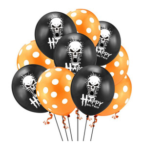 10pcs 12 дюймовых группы Хэллоуин воздушных шаров на день рождения украшение воздушных шаров Моды фотография Украшение верхнего качество Надувного воздушные шары Free Sh