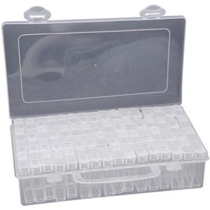 Aksesuar Nakış Vaka Tutucu Boyama Saklama Kutusu Nakış Kutusu Plastik Boncuk Ekran Diamond Boyama 60 Izgaralar Elmas
