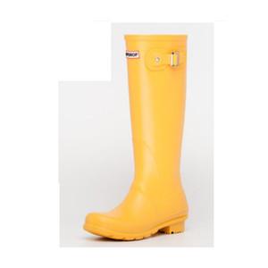 Heißer Verkauf- Schuhe Regen Stiefel und weise Knie-hoch hoch regen Stiefel England Stil wasserdichte Gummistiefel Stiefel Gummi Gummistiefel Wasserschuhe rainshoes