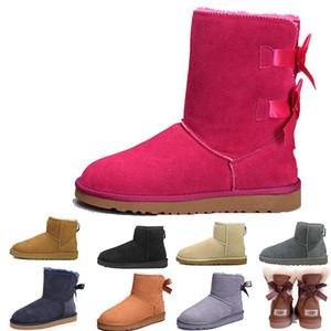 2020 Luxury donna breve glitter paillettes WGG Designer Womens scintille in Australia classico pulsante Winter Snow Boots Bling Moda Scarpe casual