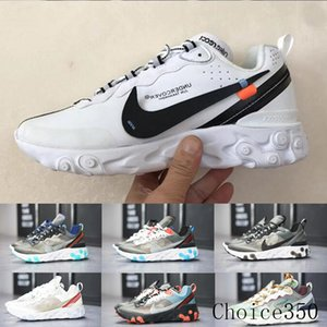 React Element 87 Undercover Men Running Shoes For Women Designers Sneakers Sports Mens Trainer Shoes Sail Light Bone Royal Tint RTK62