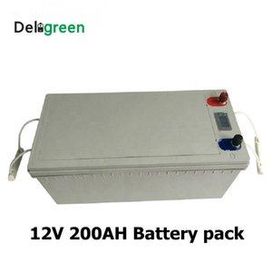 pacote de 12V 200AH LiFePO4 bateria de lítio Li-ion para Bicicletas elétricas baterias de armazenamento de energia EV UPS Solar com display LED