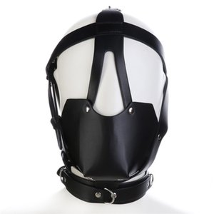 Interés juguetes sexuales Fetish Restriction Mask Gear J10-74 Hood Head Sex Mascarilla de esclavitud para parejas Máscaras HRKTH PBMXV