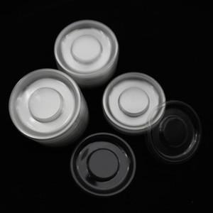 100pcs cercle gros ronds plateaux en plastique transparent cils plateau de support de flan transparent pour boîte d'emballage des cils contenant du boîtier