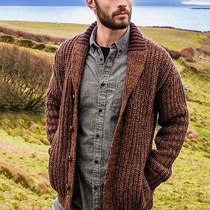 HEFLASHOR Sweater Men V-Neck Button Warm knit Slim Fit Coat Cardigan Soild Sweater Hombre Male Autumn Big Size 5XL Casual Tops