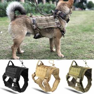 Military Tactical Hundegeschirr Schäferhundehundeweste mit Griff Nylon Bungee Hundeleine Harness für kleine große Hunde-Welpen