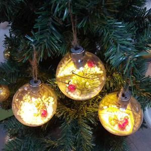 Işıklar ile Şeffaf Parlayan Noel Topu Noel ağacı Süsleme Baubles Ev Dekorasyon ZZA1567 için Noel Çocuk hediyeleri