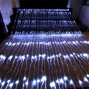 6x3m 3x3m Водопад занавес Fairy свет шнура Расход воды Meteor Shower дождь Light Hotel Restuarant Window Сосулька свет 110V-220V