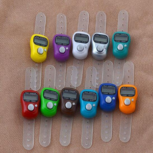 Mini Hand Hold Band Tally Counter LCD Digital Screen Finger Ring Electronic Head Count Tasbeeh Tasbih