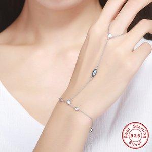 Bracciale rigido in argento sterling 925 con zircone pietra per le mani delle donne gioielleria raffinata, s925 bracciali a maglie regolabili J190722