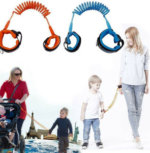 Anti Perdido banda Kid Child Safety Harness Anti Perdido alça de pulso Leash Walking 1,5 m ao ar livre pai do bebê coleira Rope Pulseira Belt LJJK2198-1