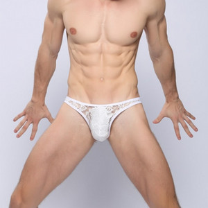 Men Transparent Sexy Knicker Men's Temptation Sexy T-back Triangular Rear Window Low-Rise Men's T-shaped Panties Men Transparent Sexy Knicke