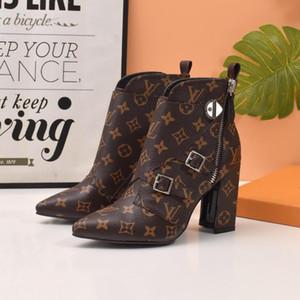 A7 Mix 9 modelo de calzado deportivo de lujo de zapatos botas para mujer de marcas mitad bota del tobillo Señora Diseño Botas de cuero genuino vestido casual